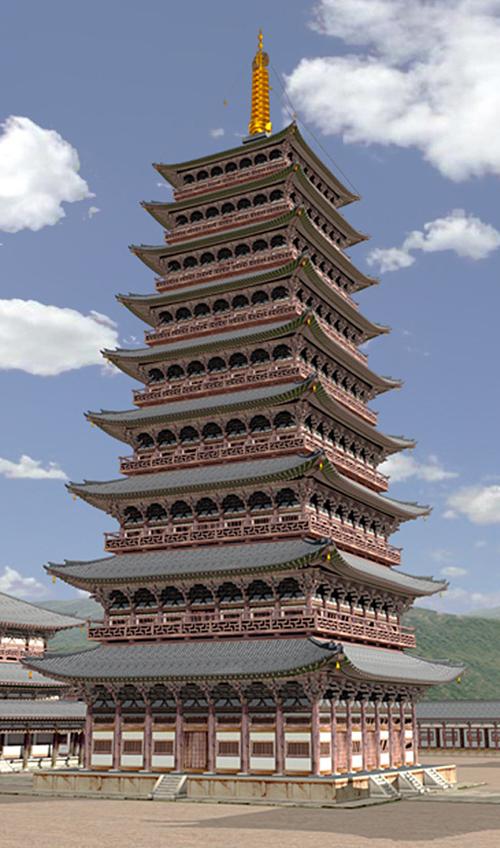 황룡사지 9층 목탑에 대한 이미지 검색결과